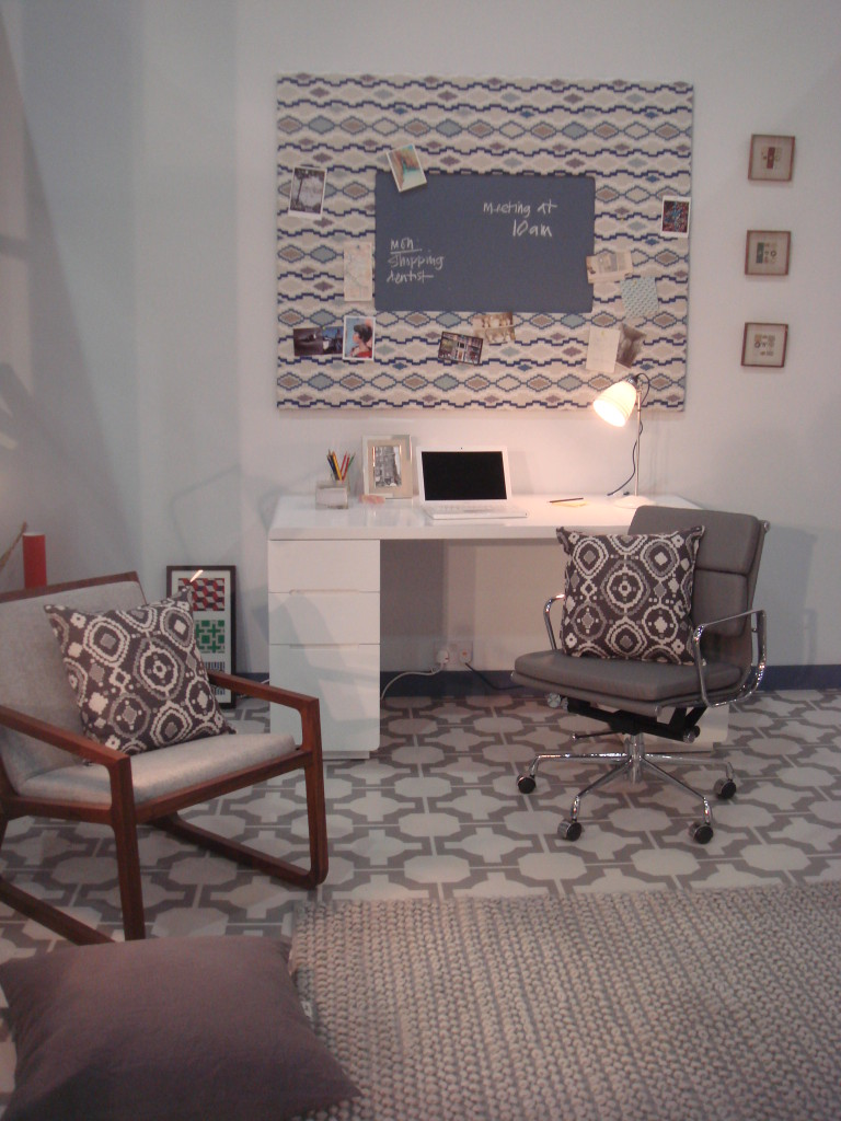 patterned office